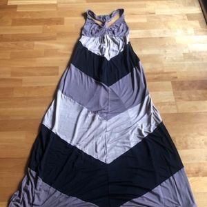 Ella Moss Chevron maxi dress size L
